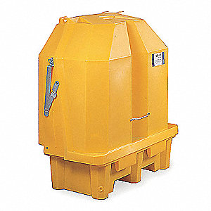 Spill Containment Pallets, Covered, 66 gal. Spill Capacity, 3000 lb.