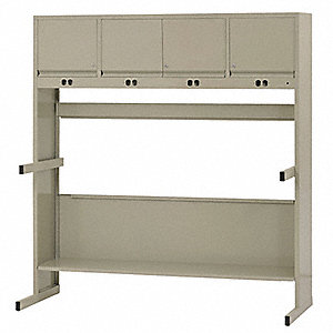 "Workbench, Stainless Steel, 30"" Depth, 66"" Height, 62"" Width, 2000 lb. Load Capacity"