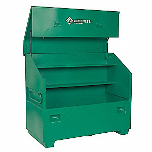 "Green Jobsite Piano Box, Width: 60"", Depth: 30"", Height: 48"", Storage Capacity: 44 cu. ft."