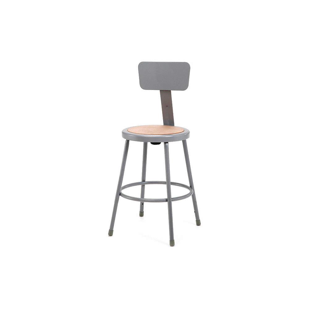 Pleasing Round Stool And 300 Lb Weight Capacity Gray Inzonedesignstudio Interior Chair Design Inzonedesignstudiocom