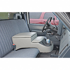Truck Seat Console,Gry,10-1/2x11-3/4x25