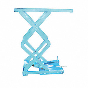 Stationary Electric Lift Scissor Lift Table, 660 lb. Load Capacity, Lifting Height Max. 54""