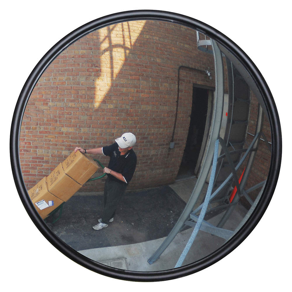 Circular Indoor/Outdoor Convex Mirror, 160° Viewing Angle, 55 ft  Approx   Viewing Distance