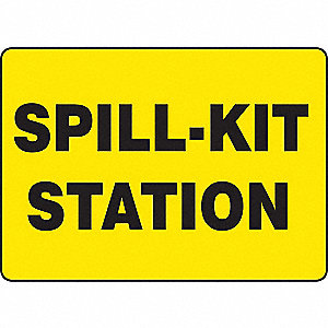 SAFETY SIGN SPILL KIT STATION ALM