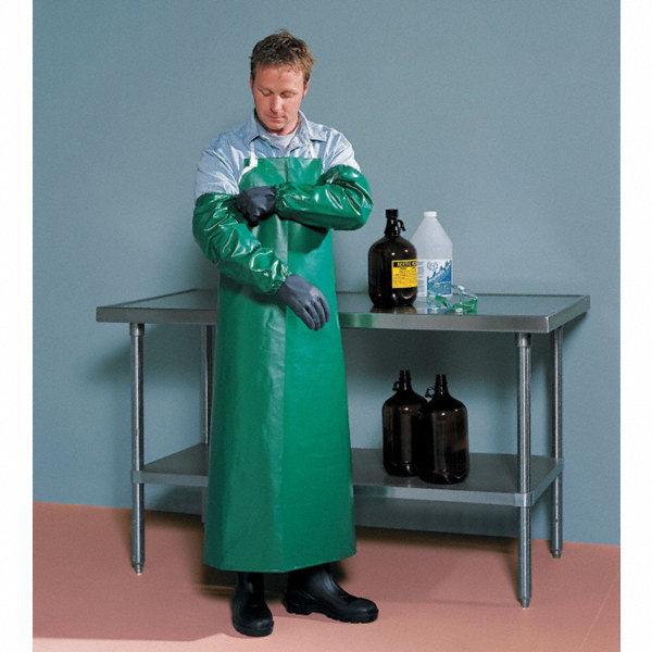 Tingley Chemical Resistant Bib Apron Green 48 Quot Length