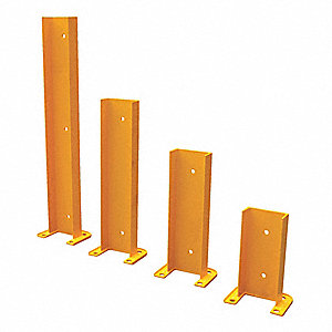 "Pallet Rack Protector, Steel, 8-1/16"" Overall Width, 36"" Overall Height, 6"" Overall Length"