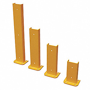 "Pallet Rack Protector, Steel, 8-1/16"" Overall Width, 24"" Overall Height, 6"" Overall Length"