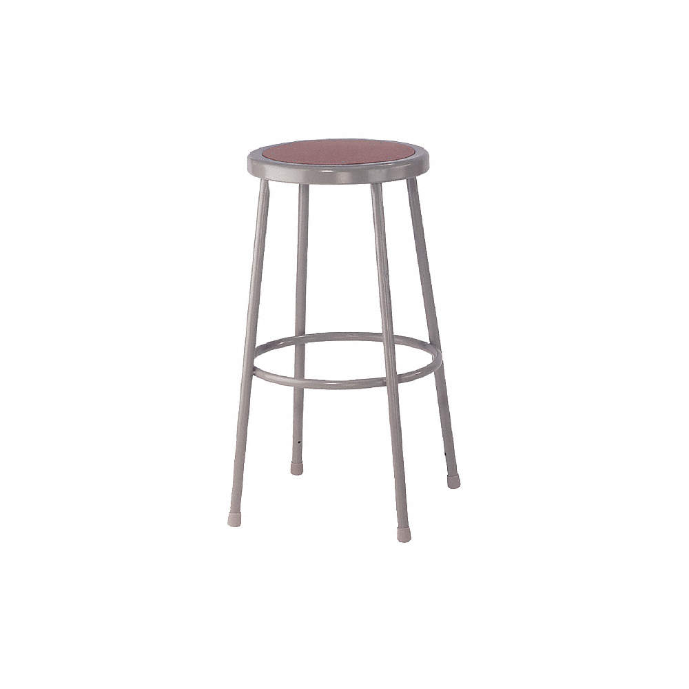 Fantastic Round Stool With 30 Seat Height Range And 300 Lb Weight Capacity Gray Ibusinesslaw Wood Chair Design Ideas Ibusinesslaworg