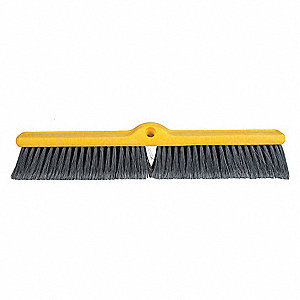 "Polypropylene Push Broom, Block Size 24"", Plastic Foam Block Material"