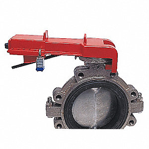 Butterfly Valve Lockout,Red