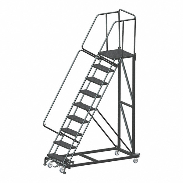 Ballymore 9 Step Safety Rolling Ladder Expanded Metal