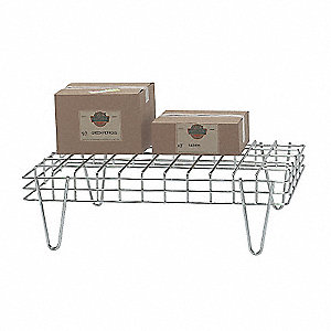 "36"" x 24"" x 10-1/2"" Wire Stackable Dunnage Rack with 1400 lb. Load Capacity, Silver"