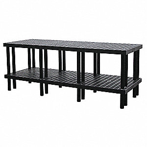 "Workbench, 96"" Width, 36"" Depth  Plastic Work Surface Material"