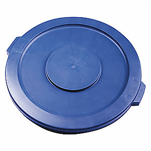 Flat-Type Trash Can Top for 32 gal. Container, Blue