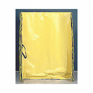 Vinyl Portable Roll Up Welding Screen, Height: 5 ft., Width: 6 ft., Black/Yellow