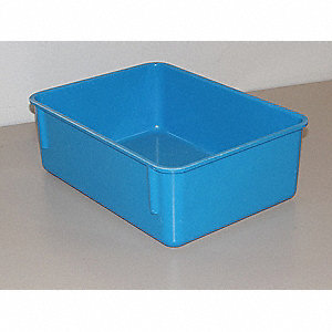 "Nesting Container, Blue, 4-1/8""H x 11-3/4""L x 8-3/4""W, 1EA"