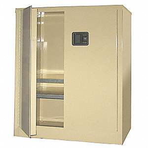 "Storage Cabinet, Beige, 42"" Overall Height, Assembled"