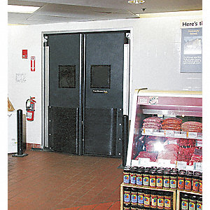 Commercial Impact Door,7 x 5 ft,Gray