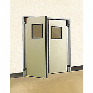 ABS Swinging Door, Gray; Number of Doors: 2, 6 ft.W x 7 ft.H