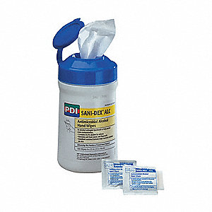 "Sani-Hands ALC Disinfectant Hand Wipe, 6 x 7-1/2""., 135 Wipes per Container, 1 EA"