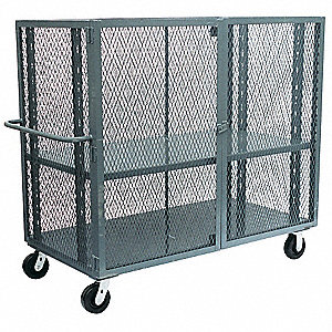 Mesh Security Cart,3000 lb,57x30x48