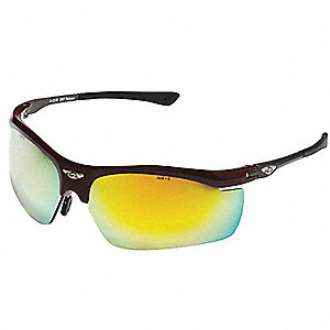 OCC  402 Scratch-Resistant Safety Glasses, Gold Mirror Lens Color