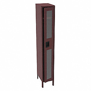 Wrdrb Lockr,Clearview,1 Wide,1 Tier,Wine