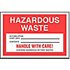 Non Hazardous and Hazardous Waste Labels