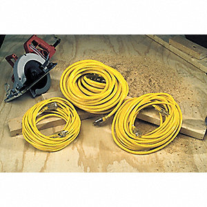 50 ft. Indoor/Outdoor 125V Lighted Extension Cord, 15 Max. Amps, Yellow