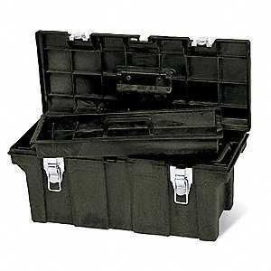 "Portable Tool Box, Structural Foam, 26"" Overall Width x 11-1/2"" Overall Depth"