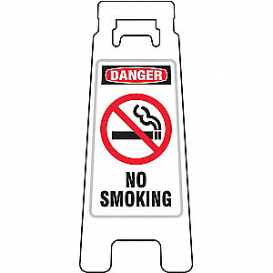 Floor Stand Sign,Danger No Smoking