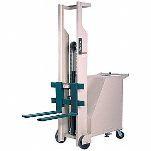 "Counterweight Base Stacker, 500 lb., Fork Width 4"", Fork Length 25"", Lifting Height Max. 66"""