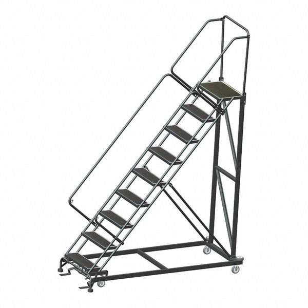 Ballymore 9 Step Stairway Slope Rolling Ladder Rubber Mat