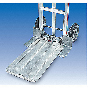Folding Nose Plate Extension, Aluminum, Load Capacity 300 lb.