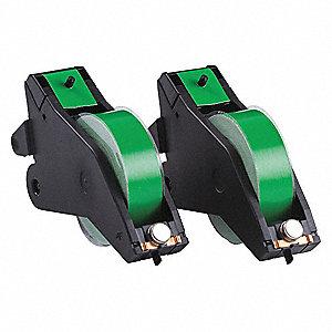 TAPE CRTRDG BLACK/GREEN 90 FT.L PK2
