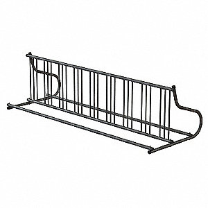 Bike Rack,2-Sided,18-Bike,110 in.,Silver
