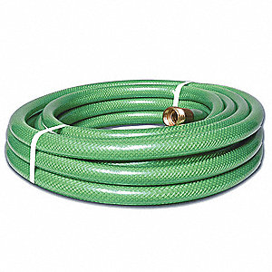 25 ft. dia. Water Hose, Cloth Inserted PVC, Green