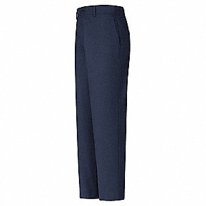 "Men's Industrial Work Pants, 65% Polyester/35% Cotton, Color: Navy, Fits Waist Size: 38"" x 32"""