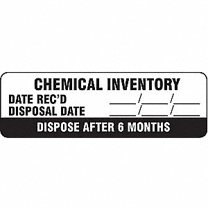 Hazard Label,2-7/8 In. W,PK500