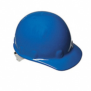 Hard Hat,FrtBrim,NonSlotted,8Rtcht,Blue