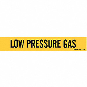 Pipe Markr, Low Pressure Gas, 8 In or Grtr