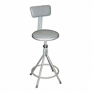 Round Stool,Yes Backrest,24 in to 28 in