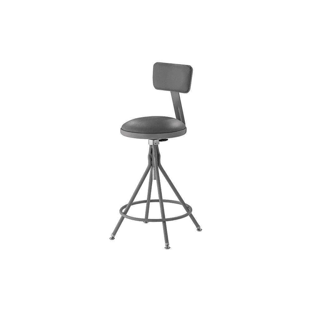 Outstanding Round Stool With 24 To 28 Seat Height Range And 300 Lb Weight Capacity Gray Inzonedesignstudio Interior Chair Design Inzonedesignstudiocom