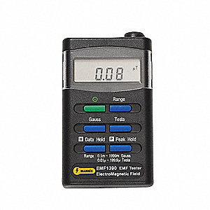 Digital EMF Tester,0-2000 mG,30-300 Hz