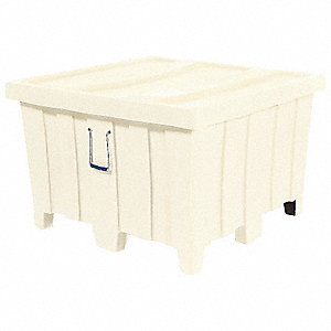 Container,23 cu. ft.,800 lb.,White