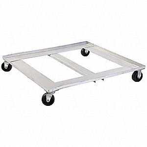 "48""L x 40""W x 8""H Gray Dolly"