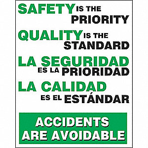 Safety Record Signs,24 x 18In,Bilingual