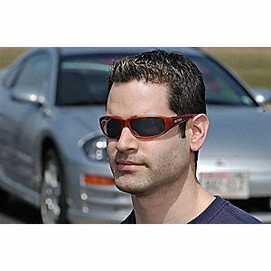 NASCAR® XY  Scratch-Resistant Safety Glasses, Gray Lens Color