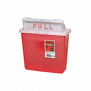 Sharps Container,1-1/4 Gal.,Red,PK5