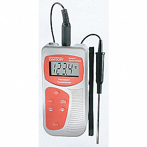 Thermistor Thermometer,-40 to 257F,LCD